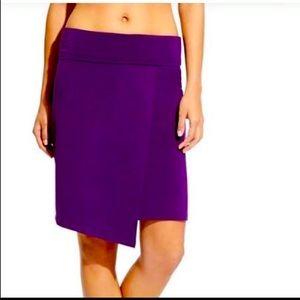 NWT Athleta seaside fold wrap skirt purple XS